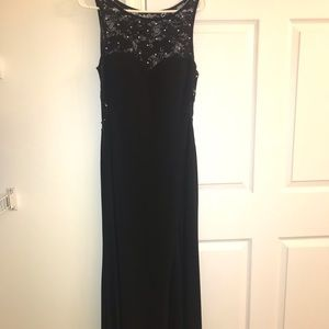 Macy's Black Sequenced Gown
